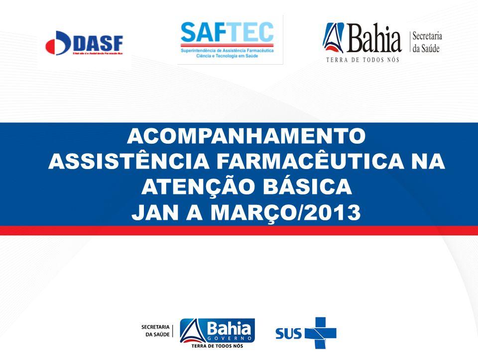 ACOMPANHAMENTO ASSISTÊNCIA FARMACÊUTICA NA ATENÇÃO BÁSICA JAN A MARÇO/2013