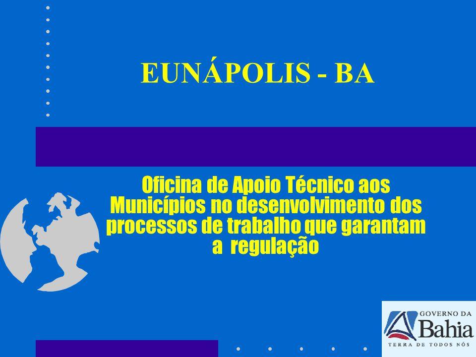 EUNÁPOLIS - BA Oficina de Apoio Técnico aos Municípios no desenvolvimento dos processos de trabalho que garantam a regulação