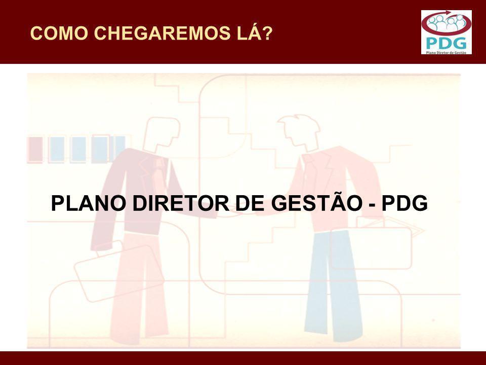 COMO CHEGAREMOS LÁ? PLANO DIRETOR DE GESTÃO - PDG