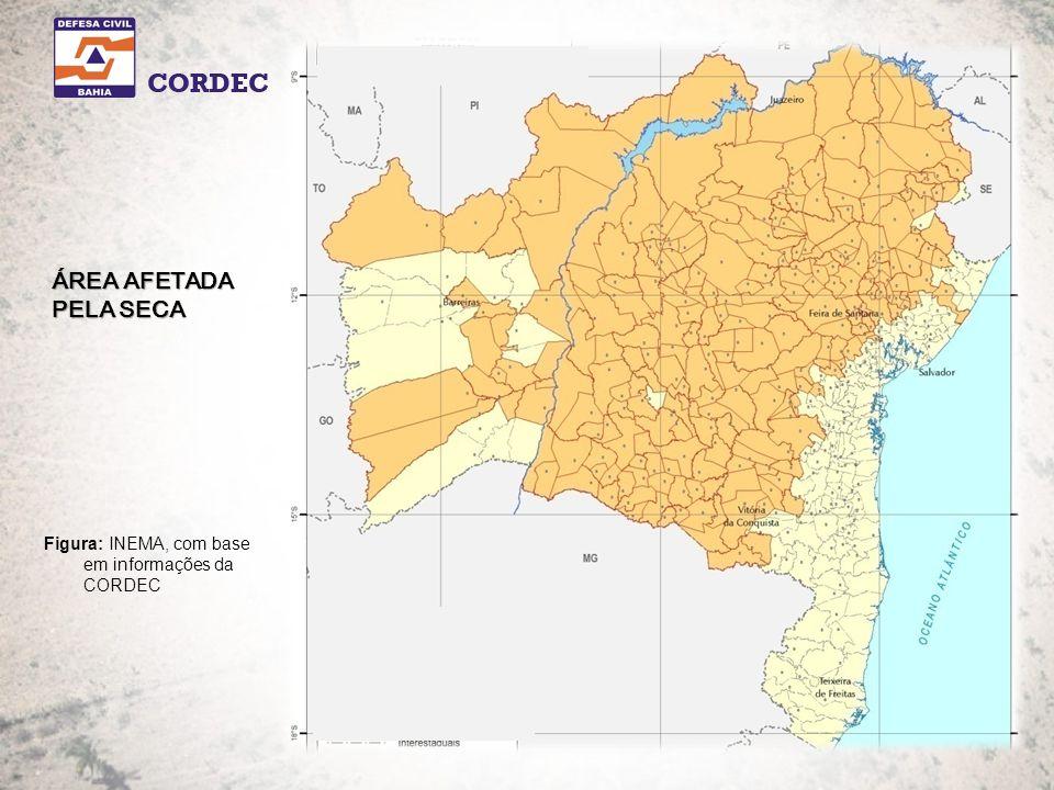Figura: INEMA, com base em informações da CORDEC ÁREA AFETADA PELA SECA