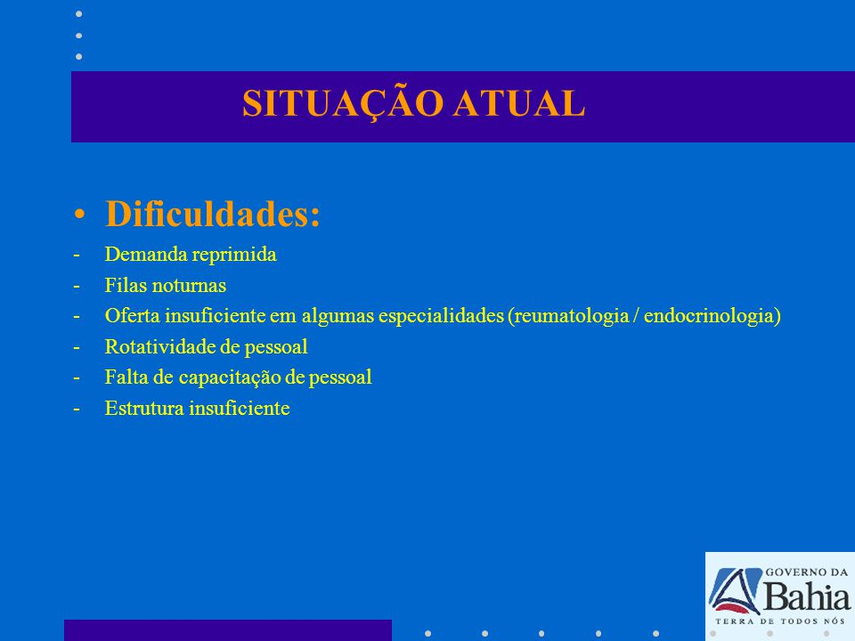 SITUAÇÃO ATUAL Adequação da Central: -Construção Estrutura Adequada -Contratação e Capacitação de Funcionários -Contratualização de Novos Serviços Especializados -Compra de Novos Equipamentos