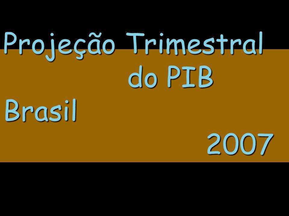 Projeção Trimestral do PIB Brasil 2007