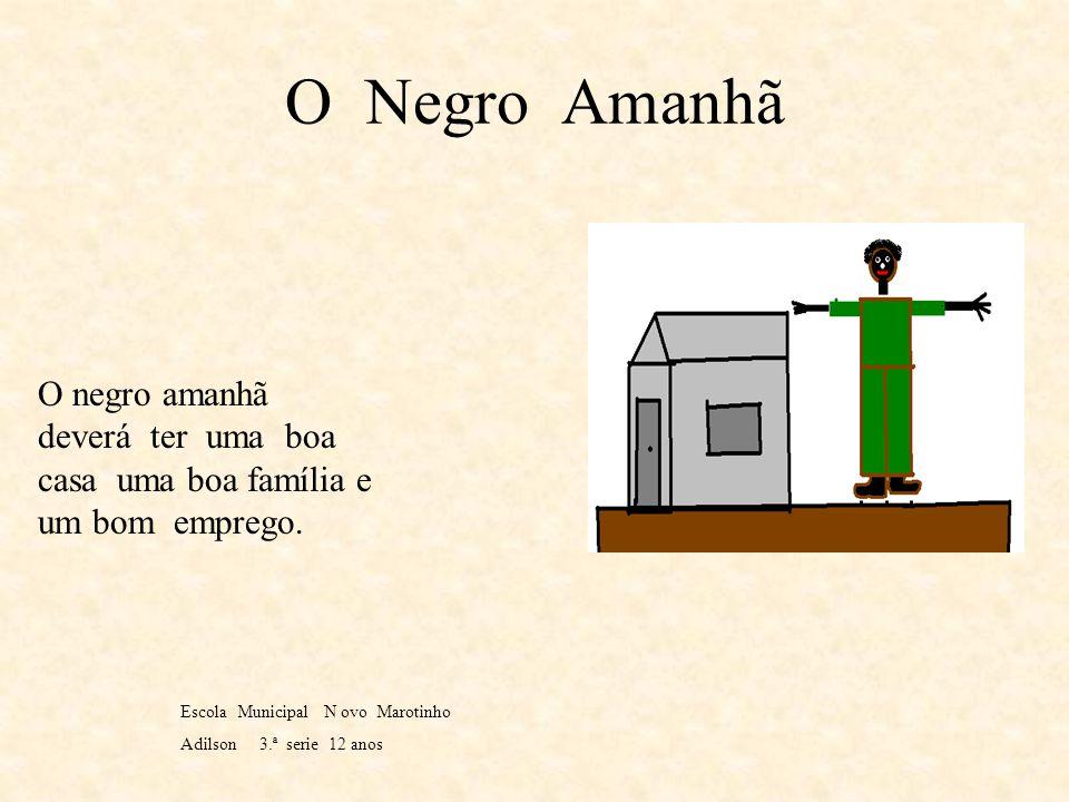 O Negro hoje O negro hoje ainda continua sendo escravo mas de uma forma disfarçada. Escola municipal novo marotinho Adilson 3.ªserie 12 anos