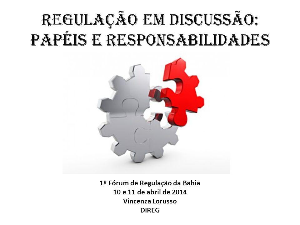 1º Fórum de Regulação da Bahia 10 e 11 de abril de 2014 Vincenza Lorusso DIREG