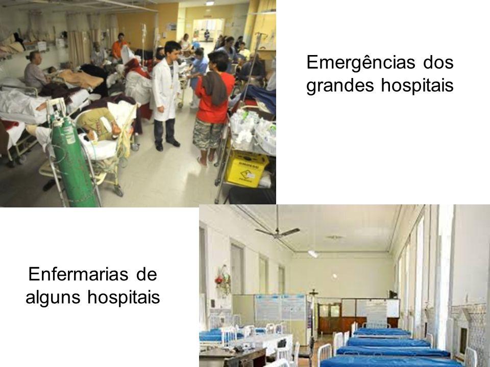 Emergências dos grandes hospitais Enfermarias de alguns hospitais