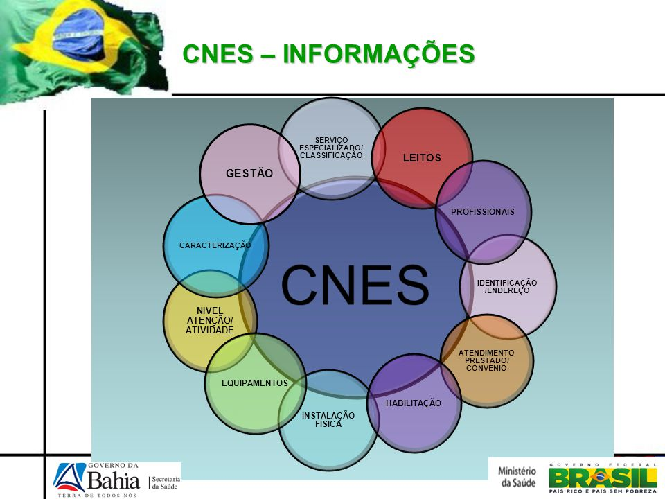 CNES – INFORMAÇÕES CNES SERVIÇO ESPECIALIZADO/ CLASSIFICAÇÃO NIVEL ATENÇÃO/ ATIVIDADE CARACTERIZAÇÃO GESTÃO IDENTIFICAÇÃO / ENDEREÇO ATENDIMENTO PREST