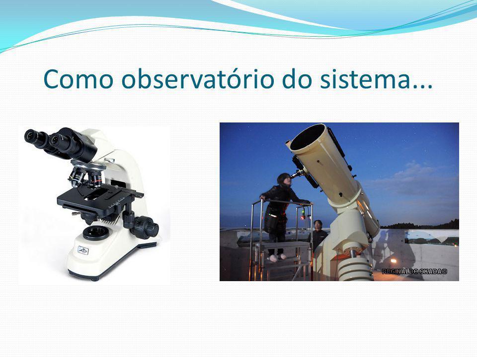 Como observatório do sistema...