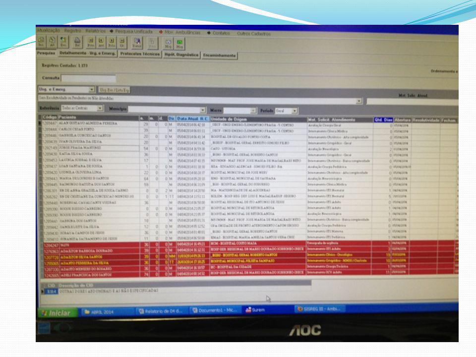 Clínica Médica Manhã14:00h19:00 VagasOcupadasMotivoOcupadasMotivo HAN 30 Sem contato com Dra.