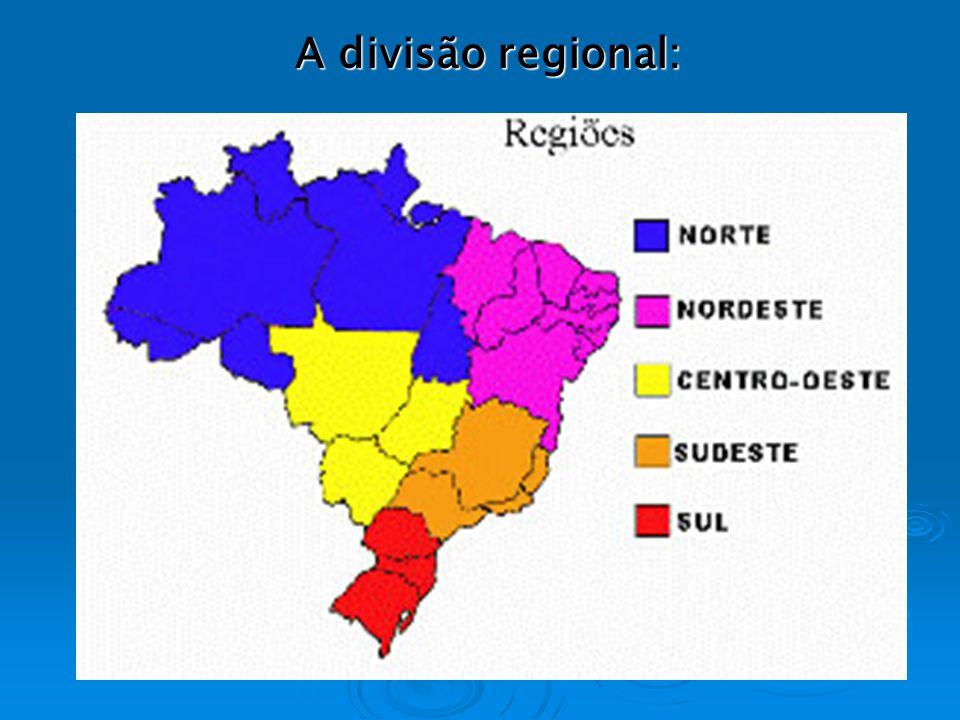 Regiões geoeconômicas ou complexos regionais 1 Amazonia, 2 Centro-Sul, 3 Nordeste