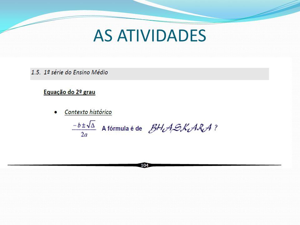 AS ATIVIDADES