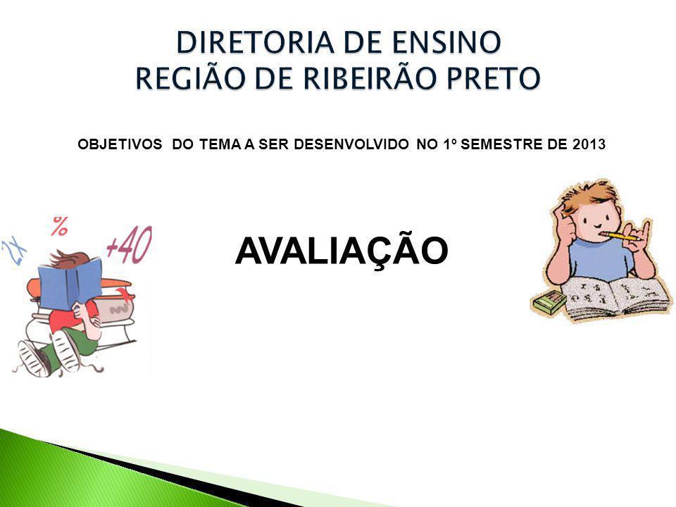 OBJETIVOS DO TEMA A SER DESENVOLVIDO NO 1º SEMESTRE DE 2013 AVALIAÇÃO