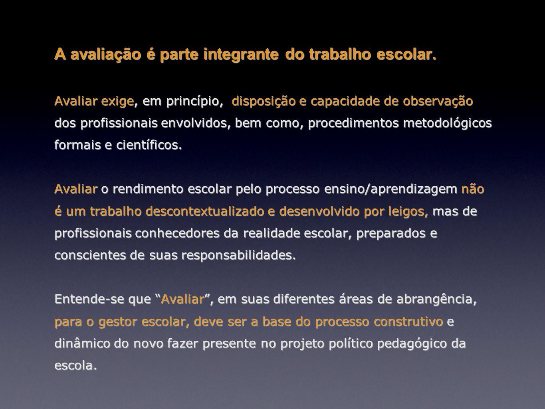 Perrenoud (1999), a avaliação da aprendizagem um processo mediador na construção do currículo e se encontra intimamente relacionada à gestão da aprendizagem dos alunos.Perrenoud (1999), a avaliação da aprendizagem um processo mediador na construção do currículo e se encontra intimamente relacionada à gestão da aprendizagem dos alunos.