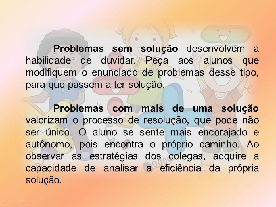 Problemas sem solução desenvolvem a habilidade de duvidar.