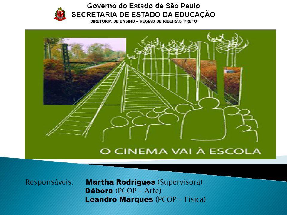Governo do Estado de São Paulo SECRETARIA DE ESTADO DA EDUCAÇÃO DIRETORIA DE ENSINO – REGIÃO DE RIBEIRÃO PRETO Responsáveis: Martha Rodrigues (Supervisora) Débora (PCOP – Arte) Leandro Marques (PCOP – Física)