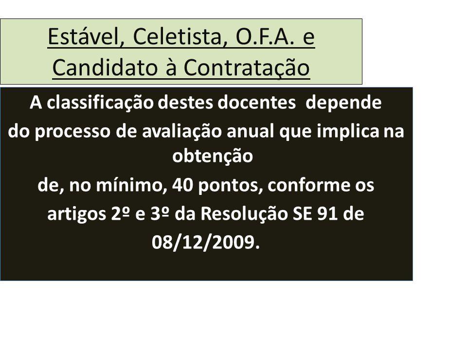 Estável, Celetista, O.F.A.