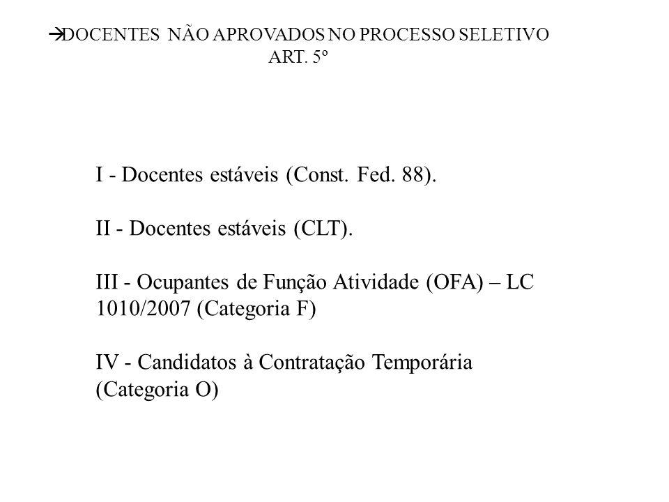 AMPLIAÇÃO DE JORNADA Somente na Unidade Escolar; Exclusivamente com classe e ou aulas livres da disciplina específica do cargo.