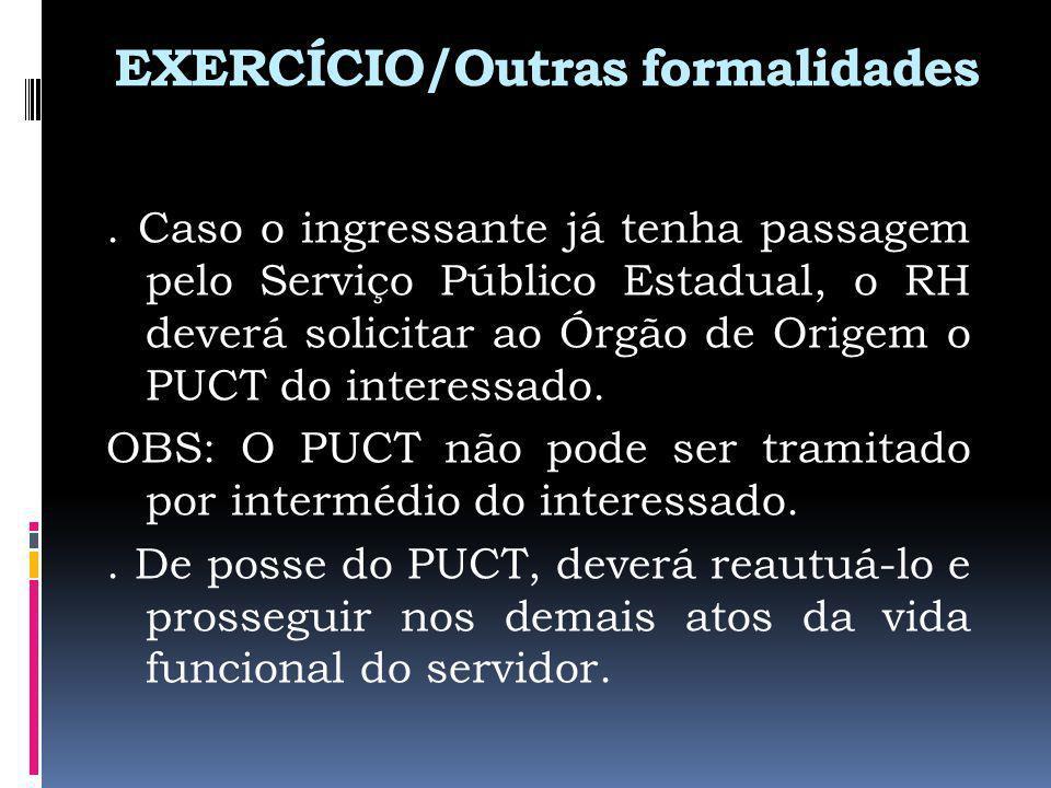 EXERCÍCIO/Outras formalidades.