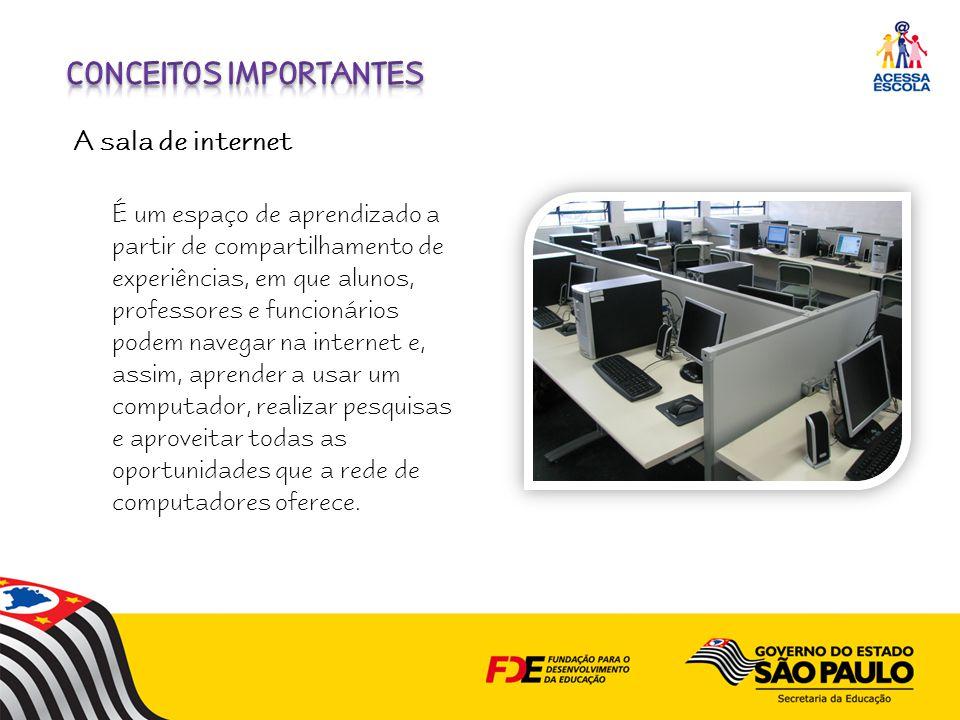É um espaço de aprendizado a partir de compartilhamento de experiências, em que alunos, professores e funcionários podem navegar na internet e, assim, aprender a usar um computador, realizar pesquisas e aproveitar todas as oportunidades que a rede de computadores oferece.