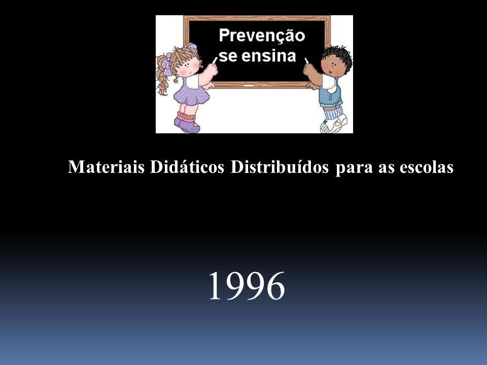 1996 Materiais Didáticos Distribuídos para as escolas