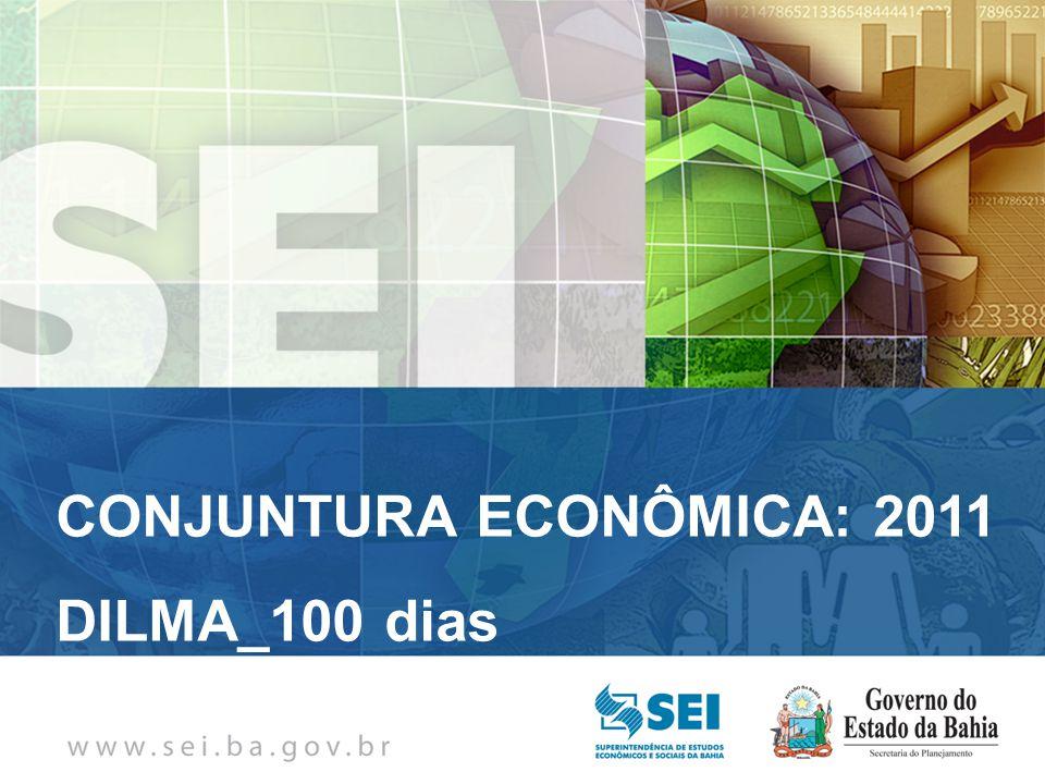 PIB TRIMESTRAL Bahia – 4º Trimestre de 2009 Bahia – 4º Trimestre de 2009 CONJUNTURA ECONÔMICA: 2011 DILMA_100 dias