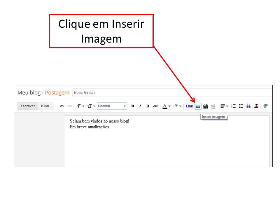 Clique em Inserir Imagem