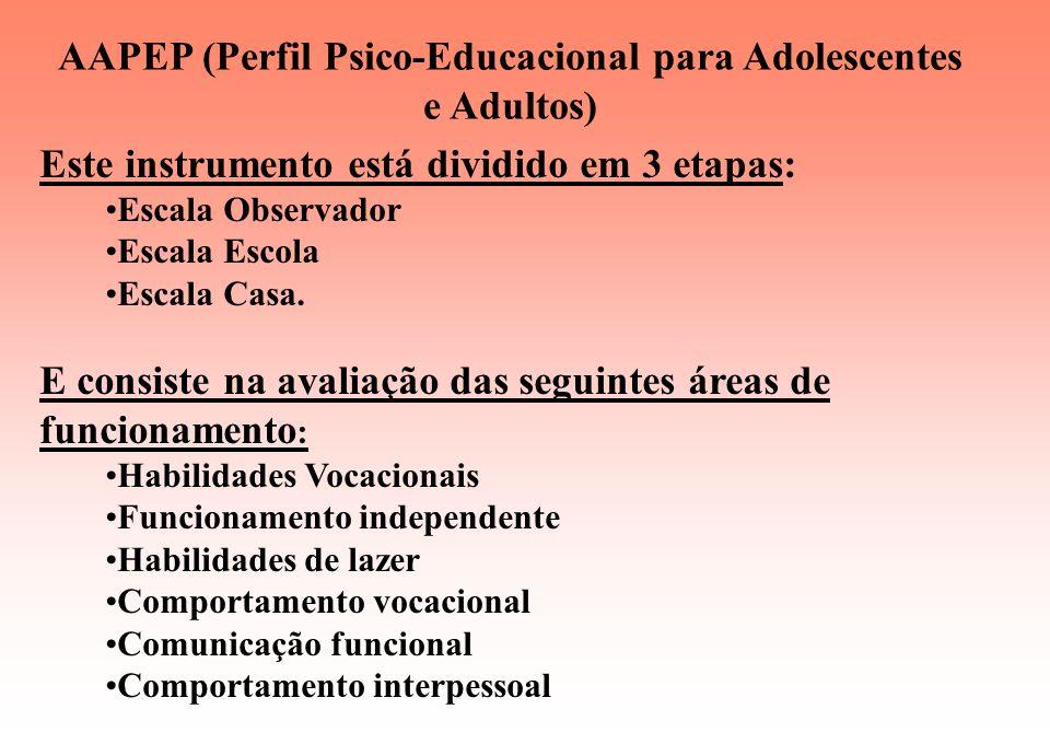 PEP - R (Perfil Psico-Educacional Revisado) Este instrumento consiste na avaliação das seguintes áreas do desenvolvimento humano: Imitação Percepção H
