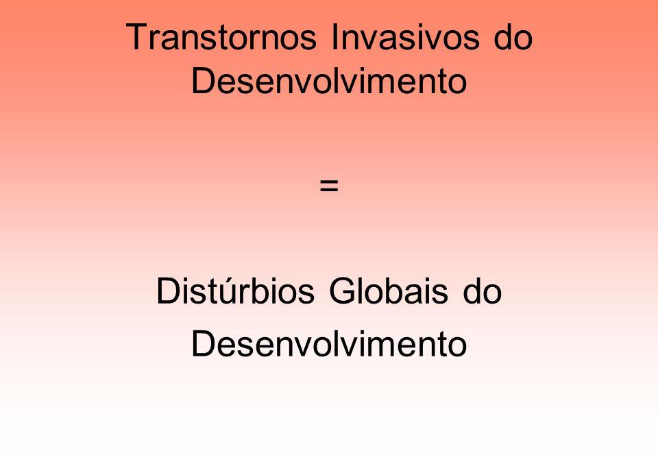 Transtornos Invasivos do Desenvolvimento = Distúrbios Globais do Desenvolvimento