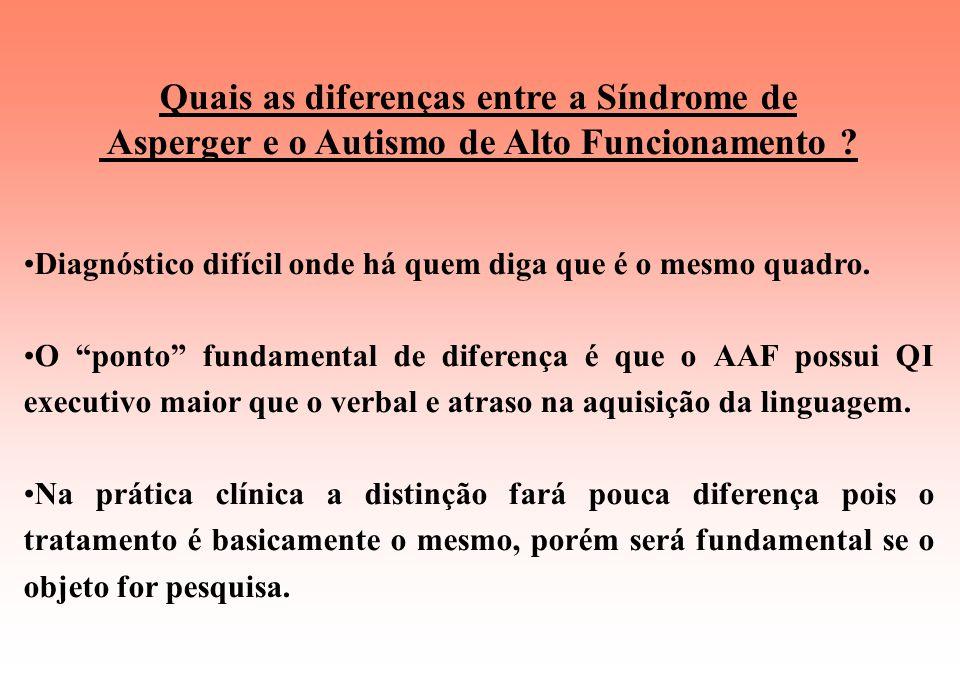 Síndrome de Asperger Prevalência Taxa de 0,36% da população em geral na proporção de 4 homens para 1 mulher. De 5 para 10.000 crianças. Causa Ainda de