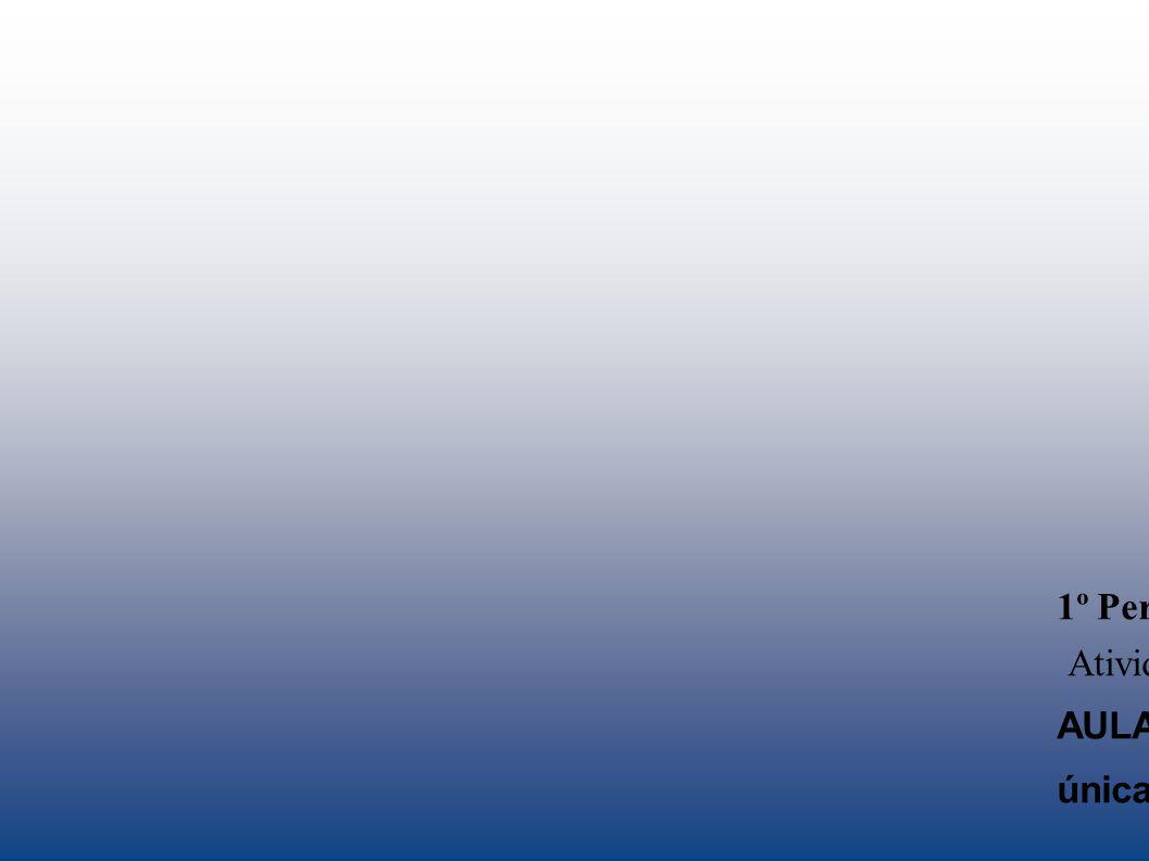 1º Período: 01/02/2012 a 04/07/2012: Atividades que serão realizadas nos NREs: AULA INAUGURAL E SEMINÁRIO INTEGRADOR: bolsa única – 24 h integral : 03 diárias, 01 deslocamento e 01 táxi