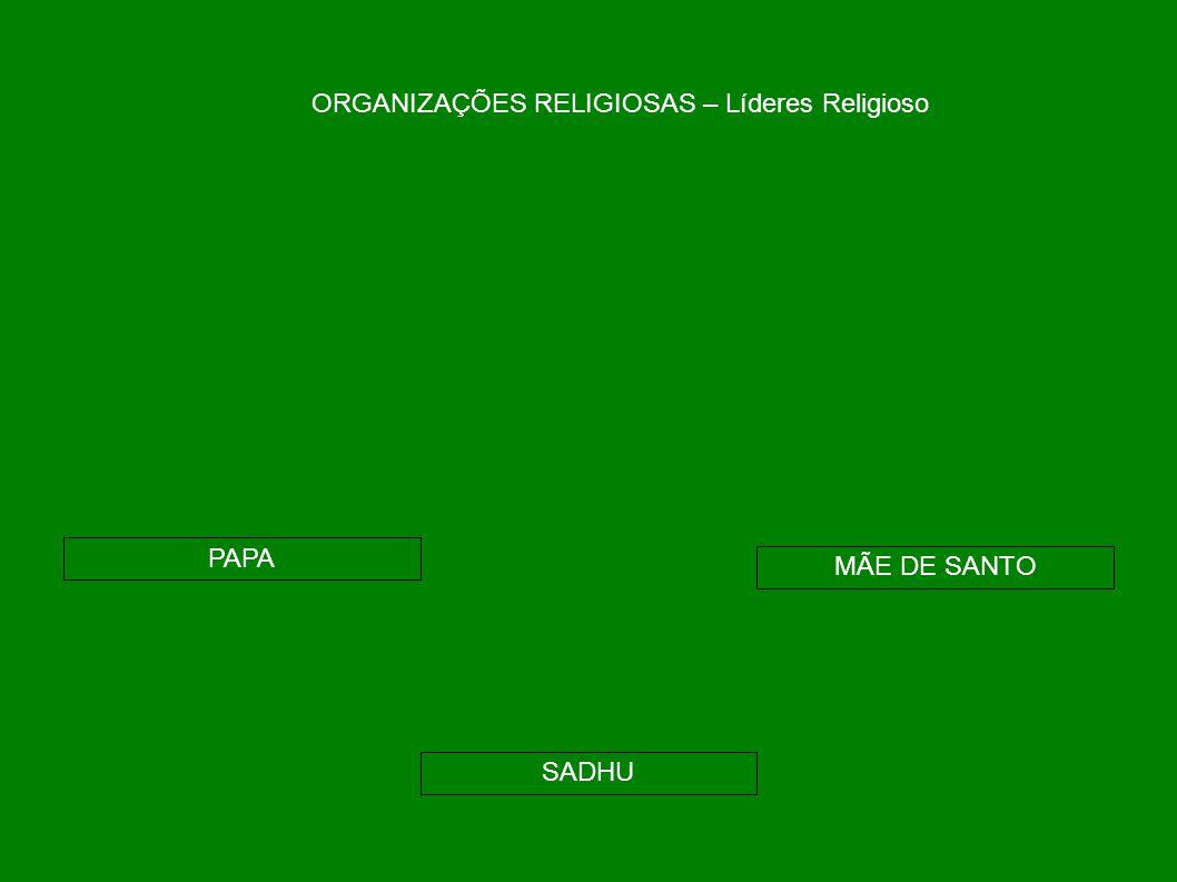 ORGANIZAÇÕES RELIGIOSAS – Líderes Religioso PAPA SADHU MÃE DE SANTO