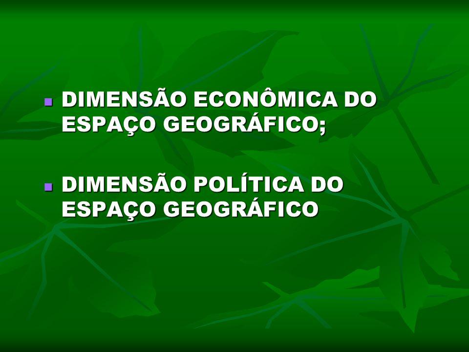 DIMENSÃO ECONÔMICA DO ESPAÇO GEOGRÁFICO; DIMENSÃO ECONÔMICA DO ESPAÇO GEOGRÁFICO; DIMENSÃO POLÍTICA DO ESPAÇO GEOGRÁFICO DIMENSÃO POLÍTICA DO ESPAÇO G