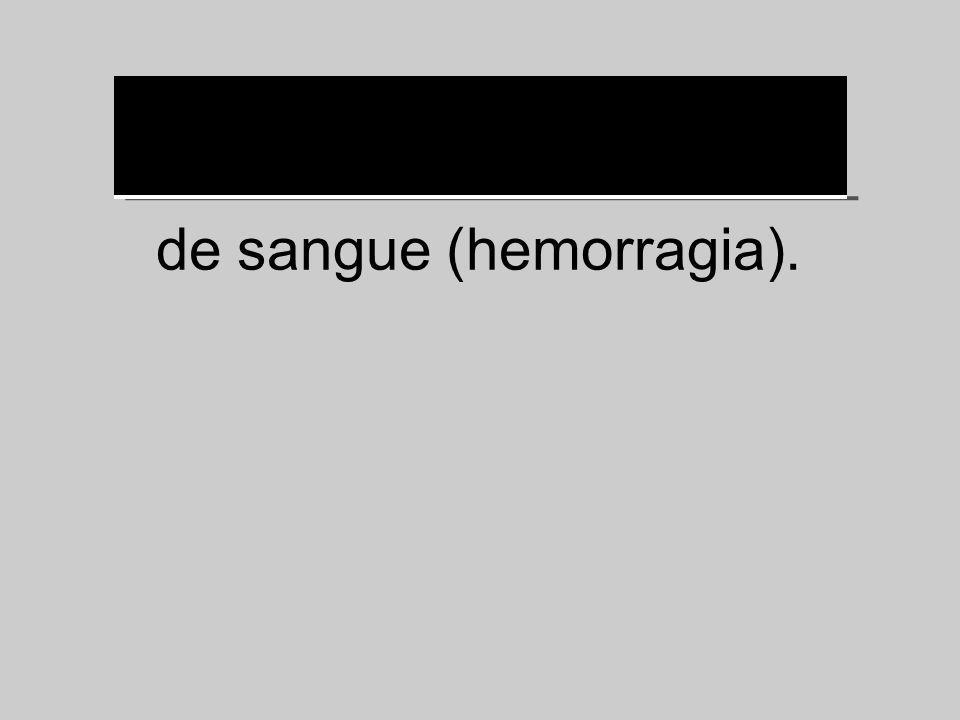 de sangue (hemorragia).