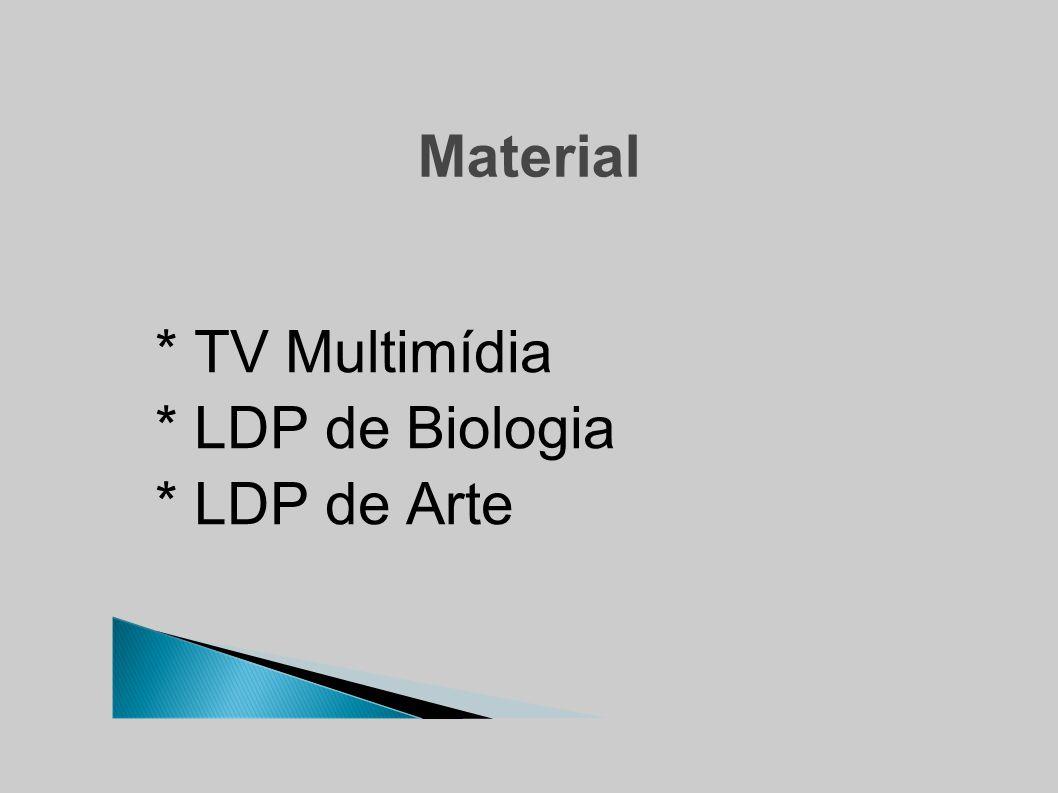 Material * TV Multimídia * LDP de Biologia * LDP de Arte