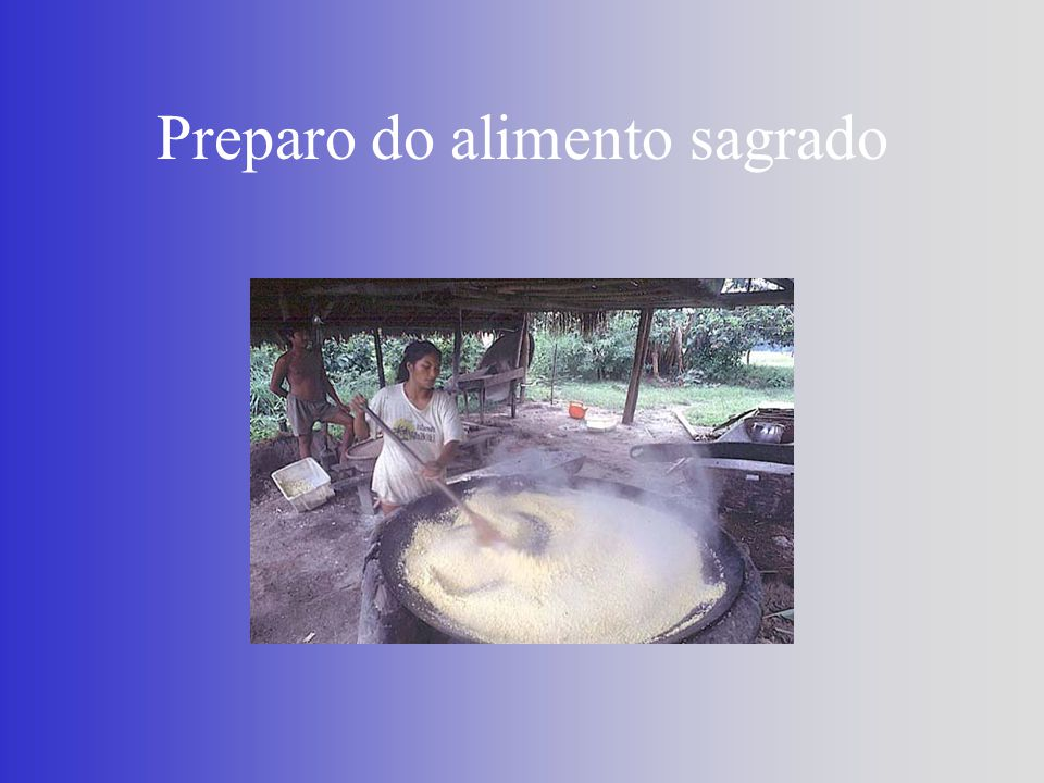 Preparo do alimento sagrado