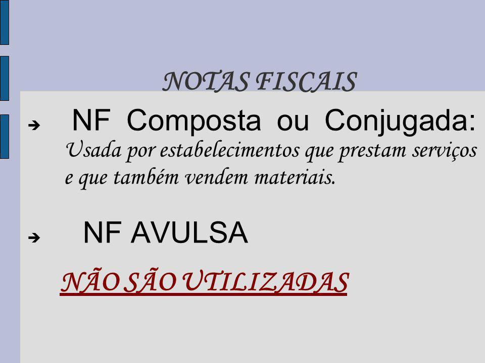 NF Composta ou Conjugada: Usada por estabelecimentos que prestam serviços e que também vendem materiais.