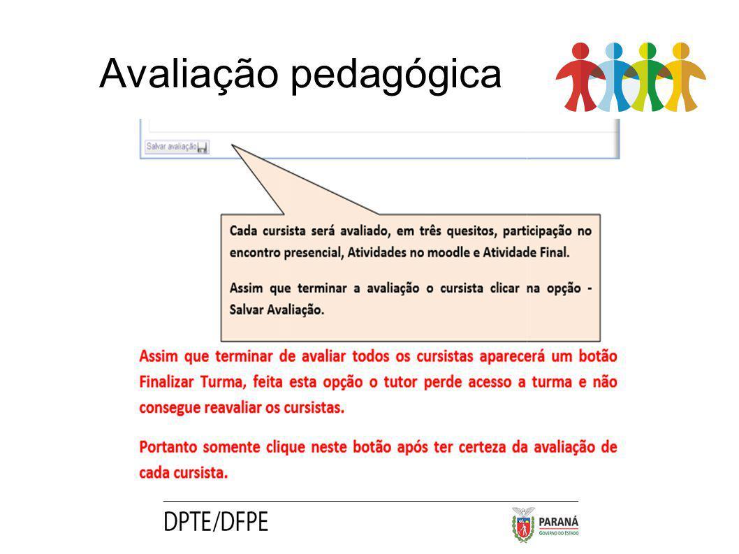 Avaliação pedagógica