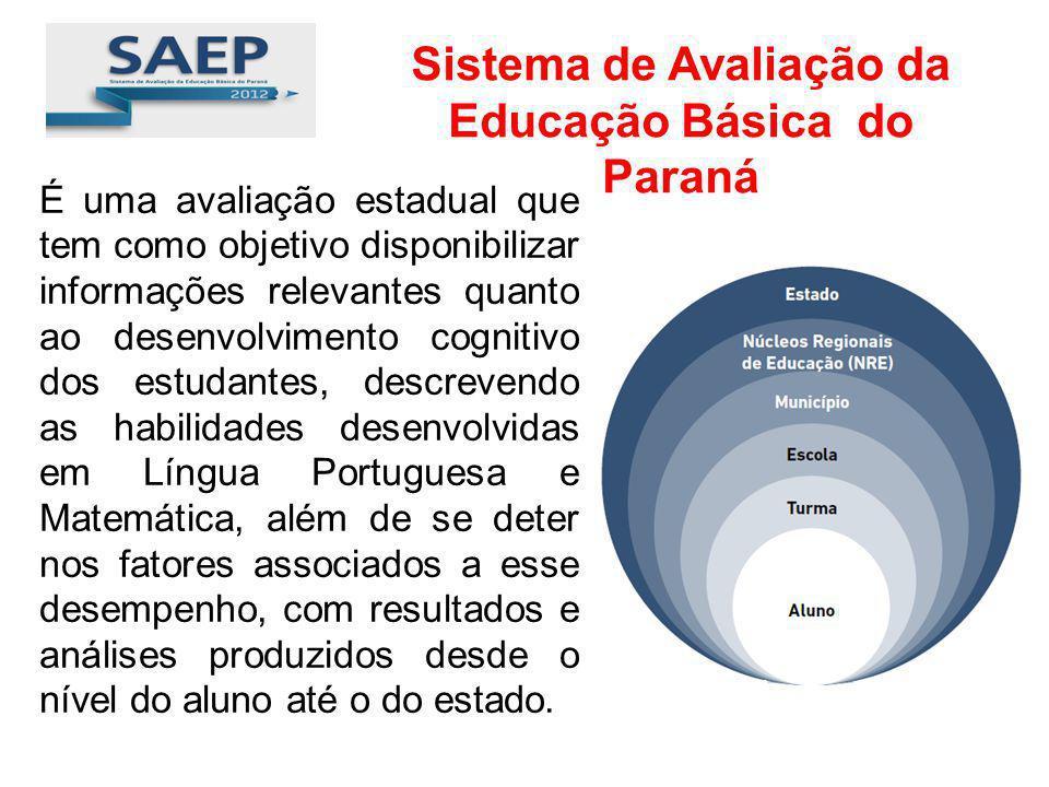 É uma avaliação estadual que tem como objetivo disponibilizar informações relevantes quanto ao desenvolvimento cognitivo dos estudantes, descrevendo a