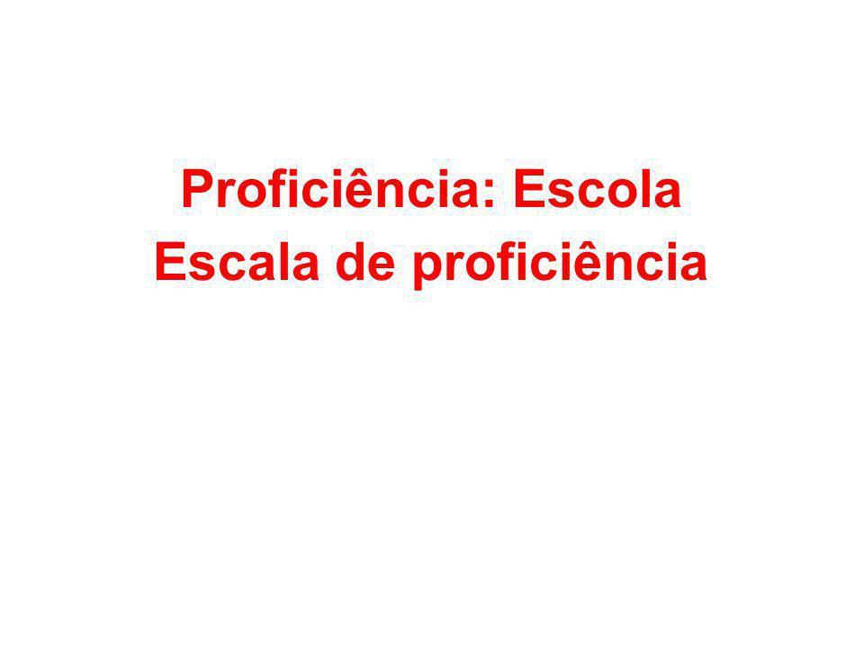 Proficiência: Escola Escala de proficiência