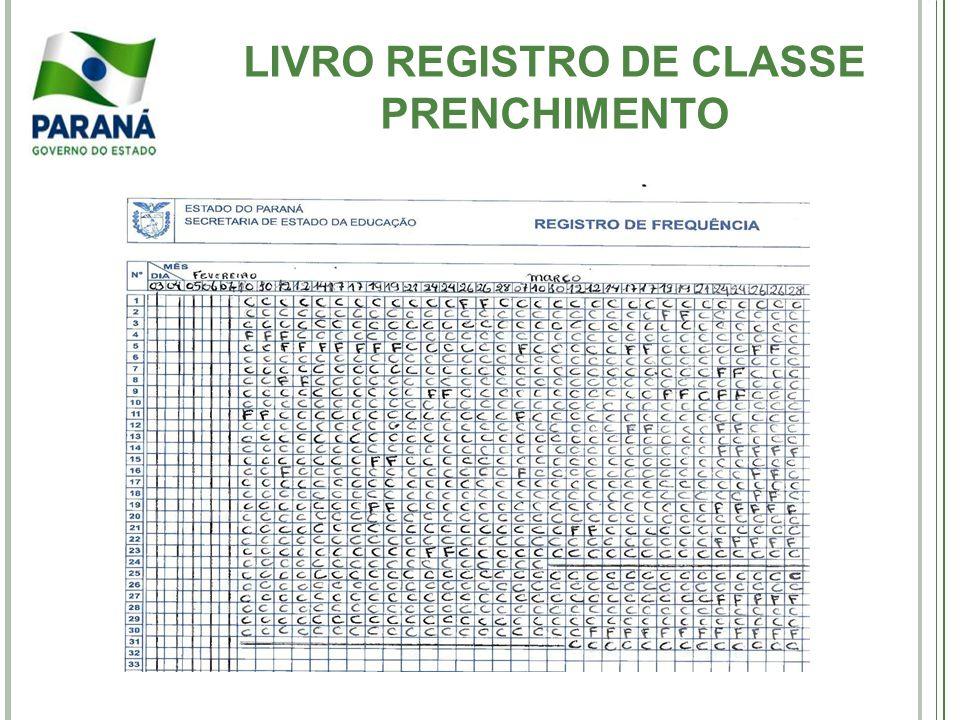 LIVRO REGISTRO DE CLASSE PRENCHIMENTO