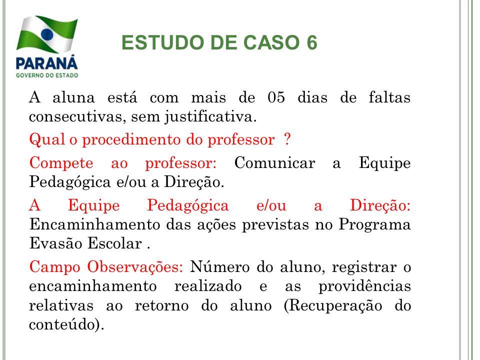 ESTUDO DE CASO 7 O Professor foi convocado para curso de formação continuada promovido pela mantenedora.