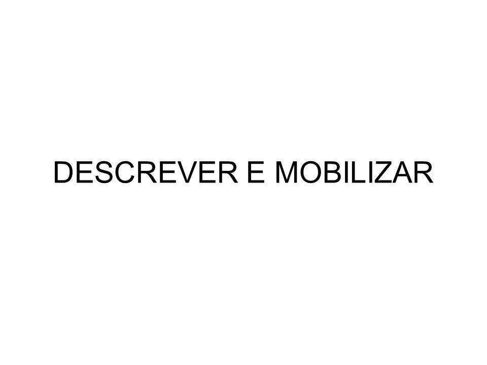 DESCREVER E MOBILIZAR