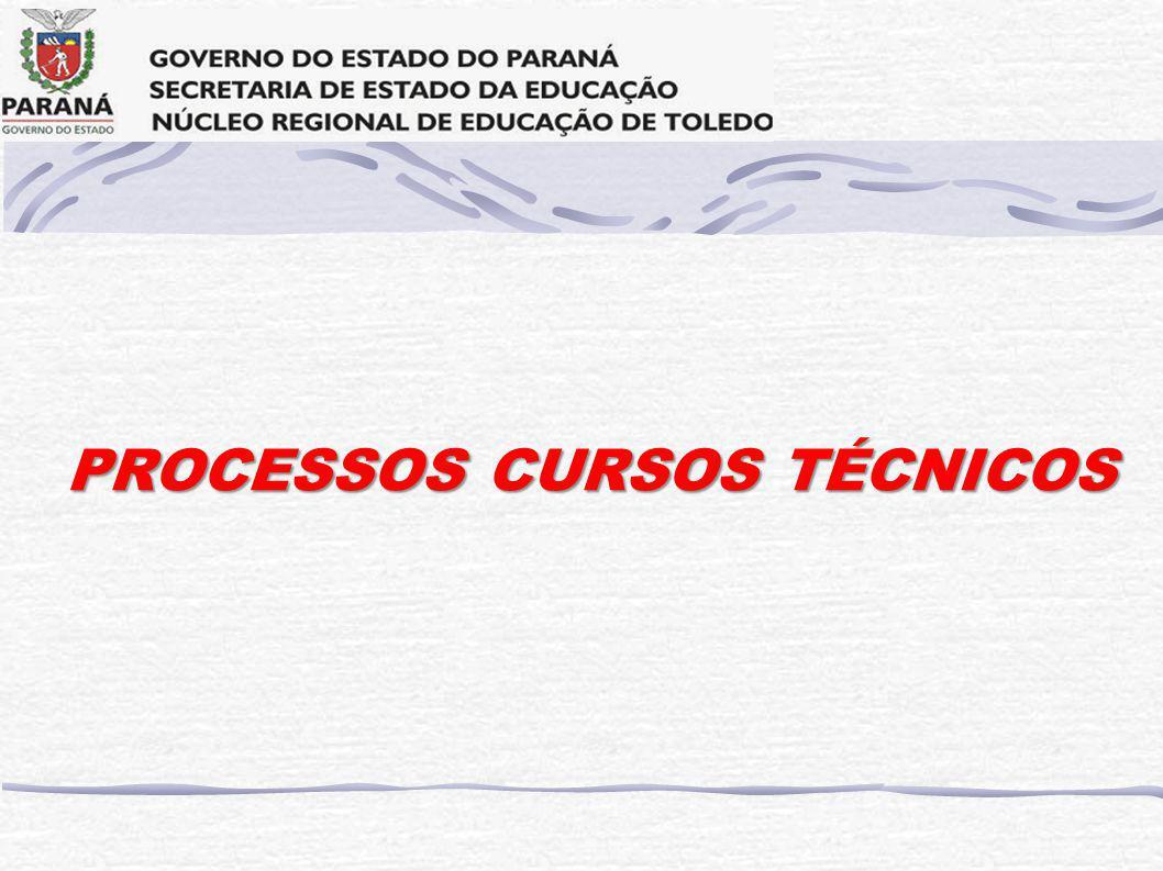 PROCESSOS CURSOS TÉCNICOS