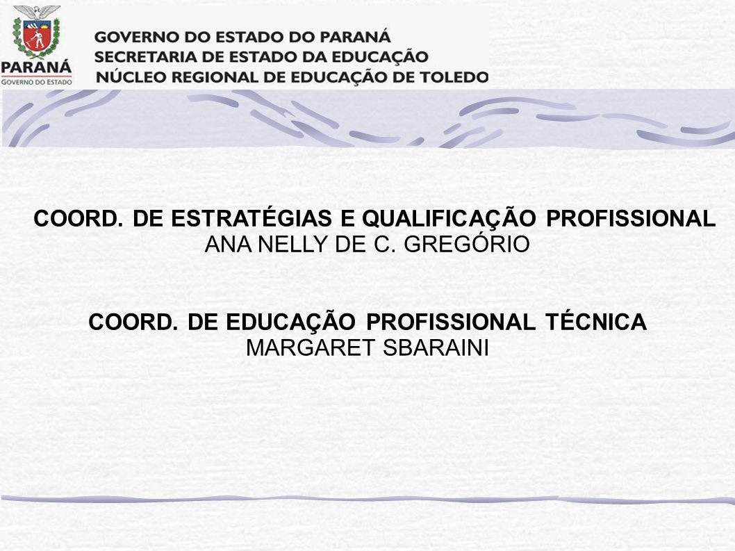 COORD.DE ESTRATÉGIAS E QUALIFICAÇÃO PROFISSIONAL ANA NELLY DE C.