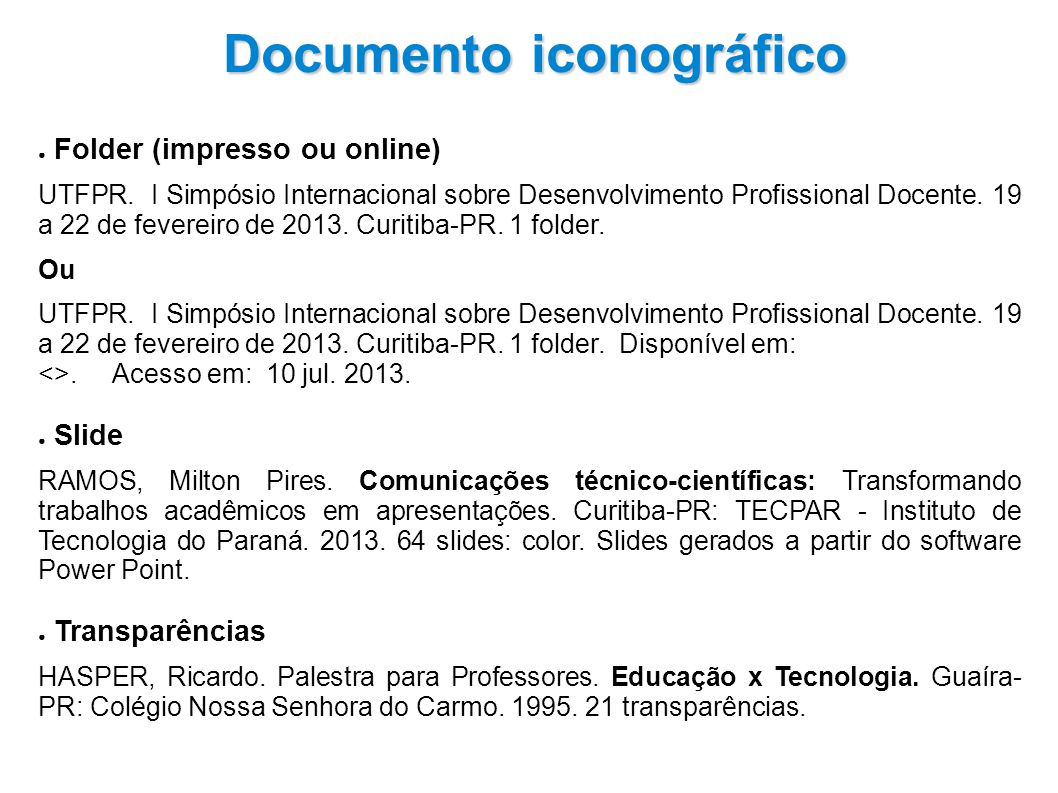 Folder (impresso ou online) UTFPR.