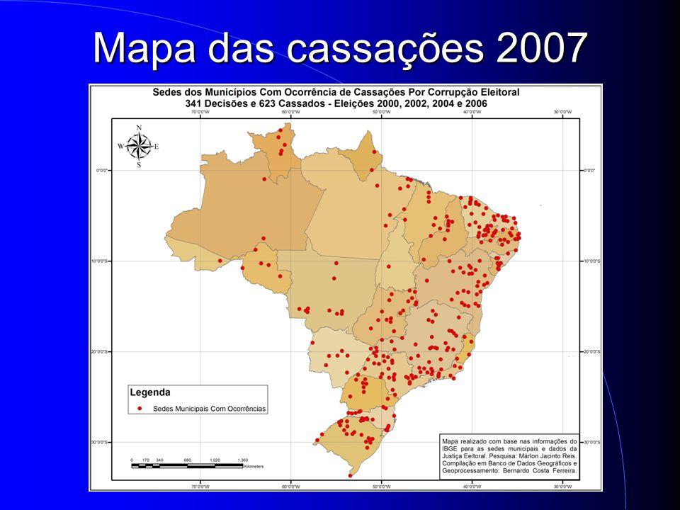 Mapa das cassações 2007