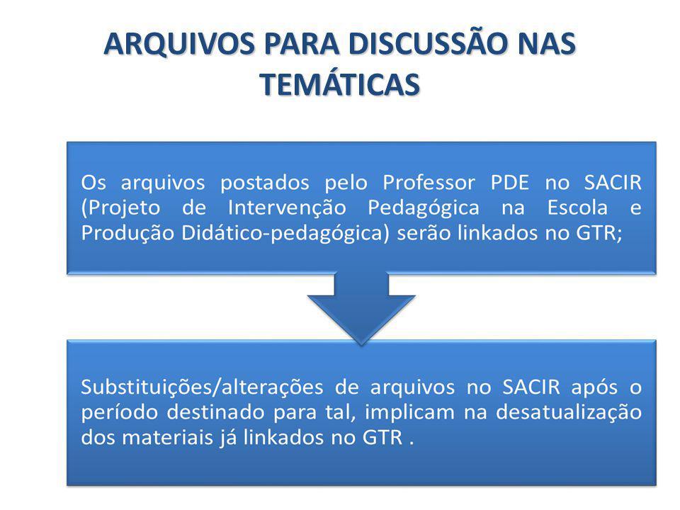 ARQUIVOS PARA DISCUSSÃO NAS TEMÁTICAS
