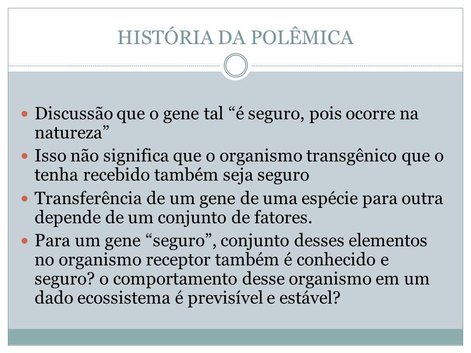 HISTÓRIA DA POLÊMICA Enfim, muitas informações não são conhecidas.