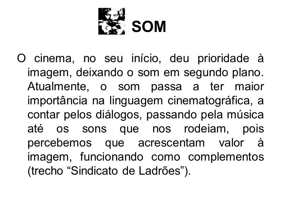 SOM O cinema, no seu início, deu prioridade à imagem, deixando o som em segundo plano. Atualmente, o som passa a ter maior importância na linguagem ci