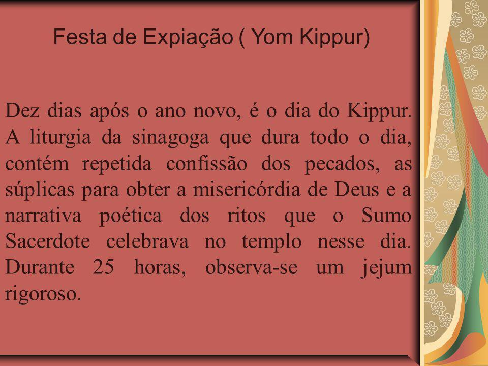 Dez dias após o ano novo, é o dia do Kippur.
