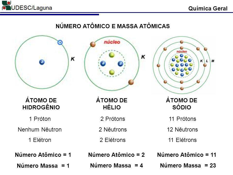 Química Geral Número Atômico (Z) = É o número correspondente à carga nuclear, ou seja, o número de prótons existente no núcleo.